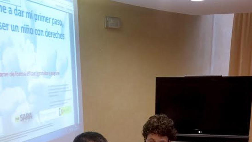 En la imagen, un momento de la presentación.