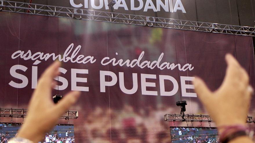 Asamblea de Podemos en Vistalegre. / Marta Jara