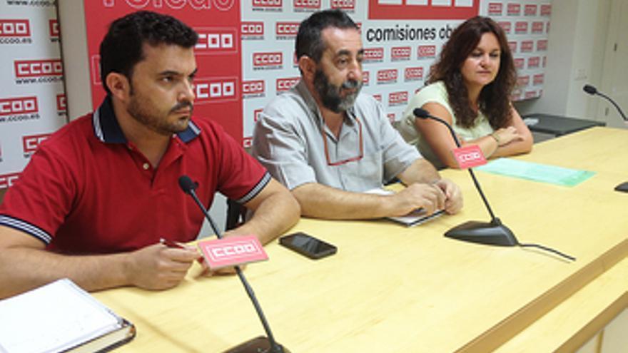 Vicente Jiménez y José Sánchez de los Silos, representantes de Ibercacao en CCOO / Foto: CCOO