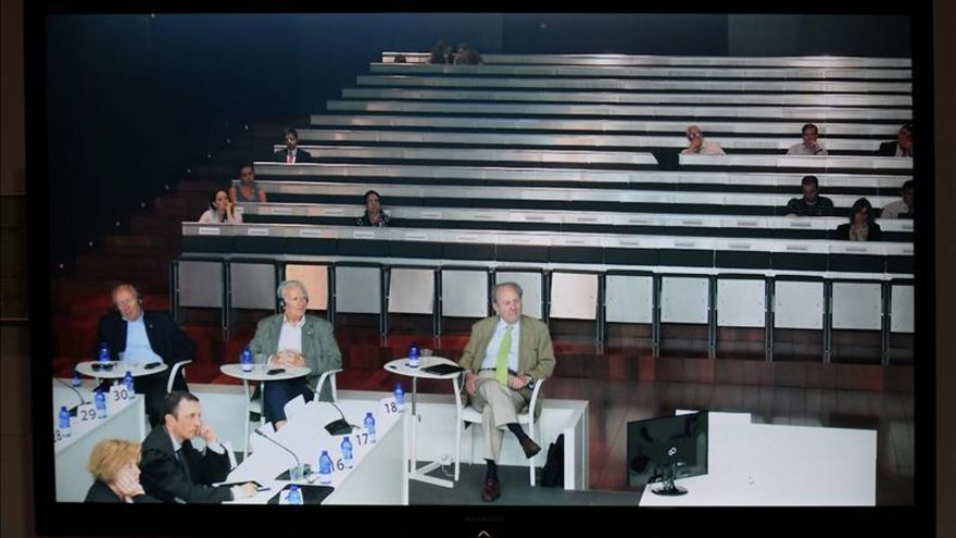 Un momento del juicio del Prestige, en A Coruña