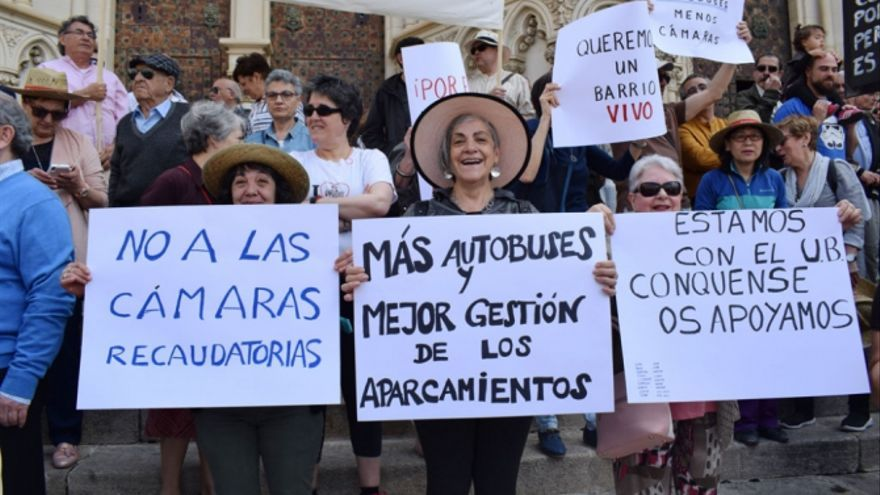 Concentración de vecinos del casco antiguo de Cuenca