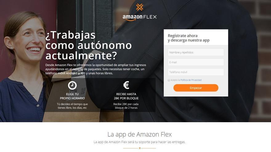 Amazon lanza una plataforma para reclutar repartidores autónomos.