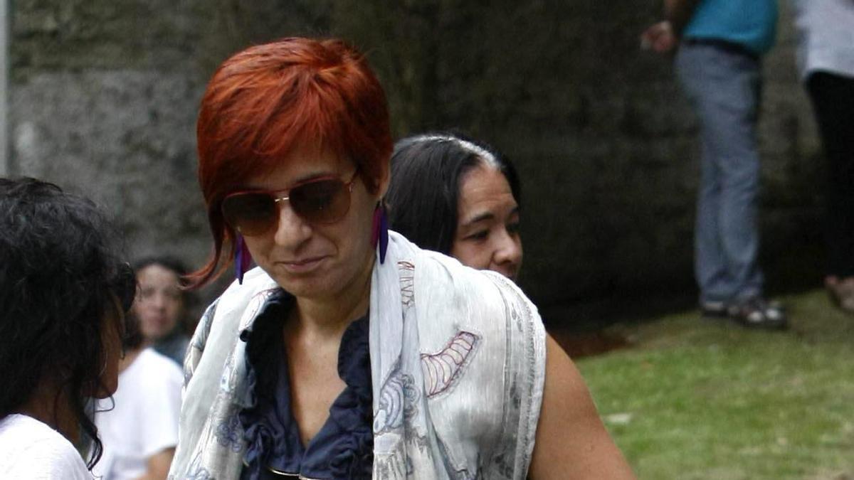 Sandra Ortega, en una de las pocas fotografías públicas que hay de ella