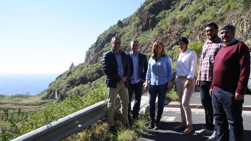 Imagen de la visita realizada a la zona del antiguo vertedero de Barranco Seco.