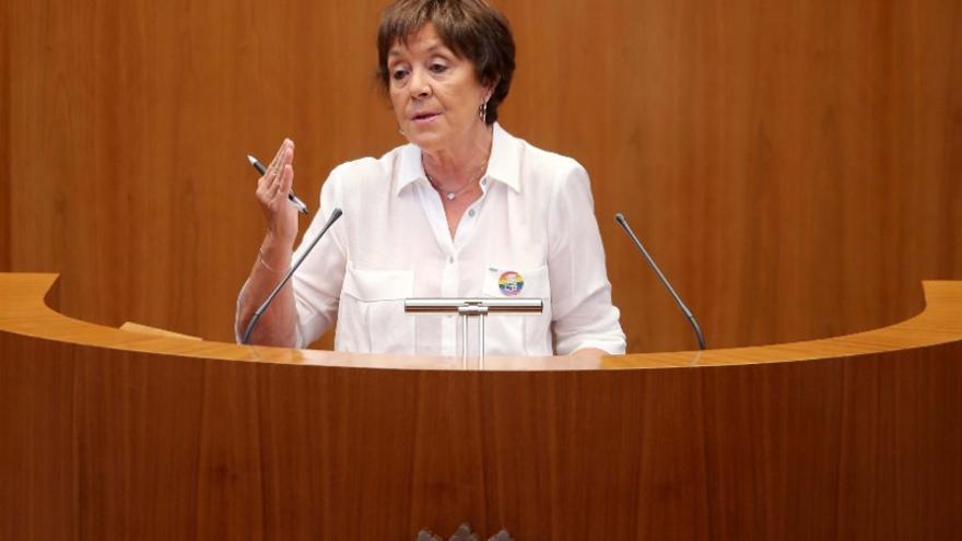 Mercedes Martín, en un pleno en las Cortes.