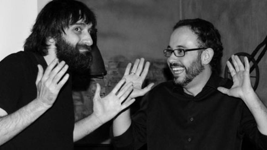 Carlos Langa y Miguel Anómalo, barbudos del humor