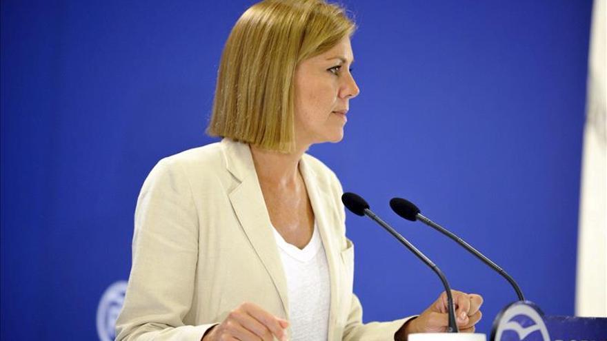 Cospedal: el relevo en el PP vasco ha tenido una rapidez digna de ejemplo
