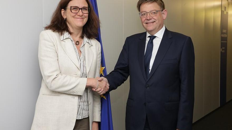 Malstrom y Puig, en su encuentro en Bruselas
