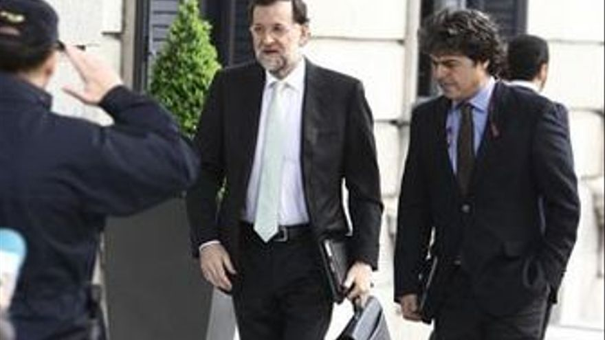 Mariano Rajoy, este martes. (EUROPA PRESS)