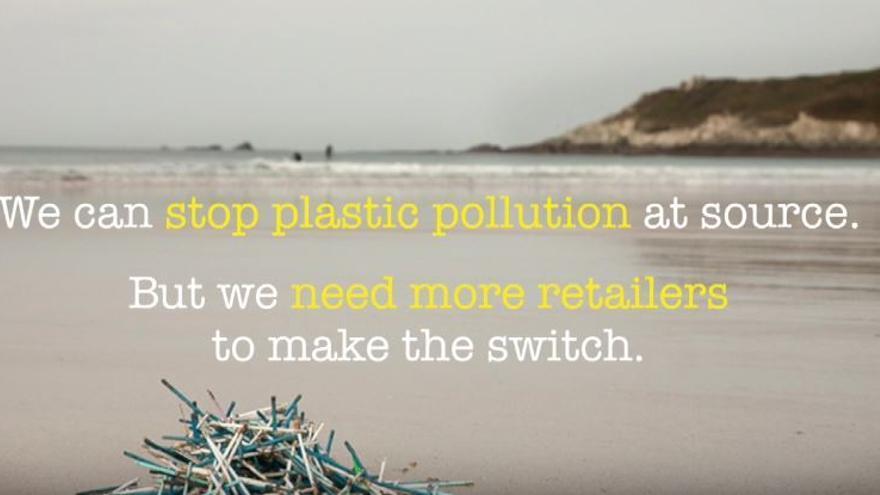 Campaña contra la contaminación por bastoncillos de algodón.