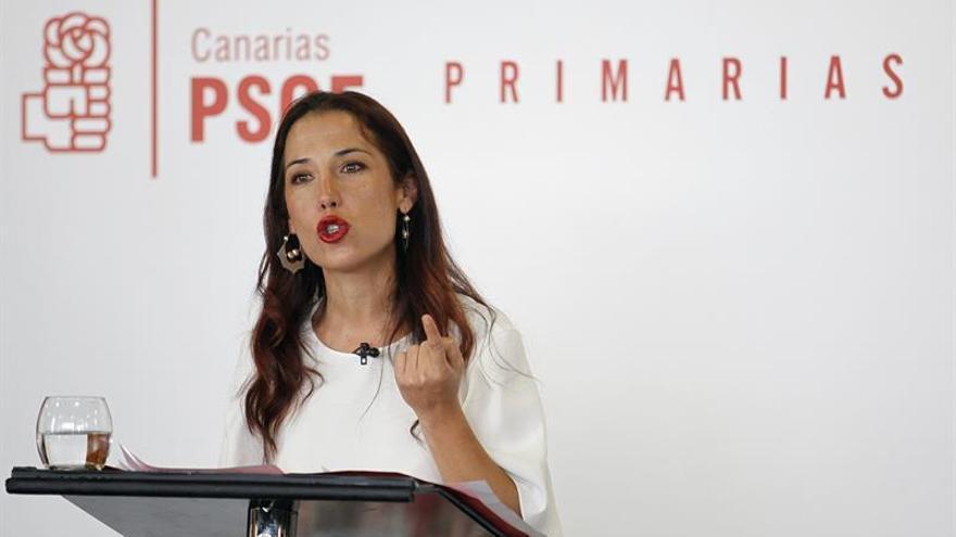 Patricia Hernández durante el debate de las Primarias del PSOE de Canarias
