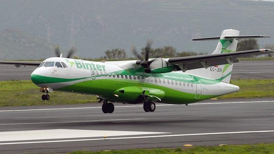 Avión de Binter.