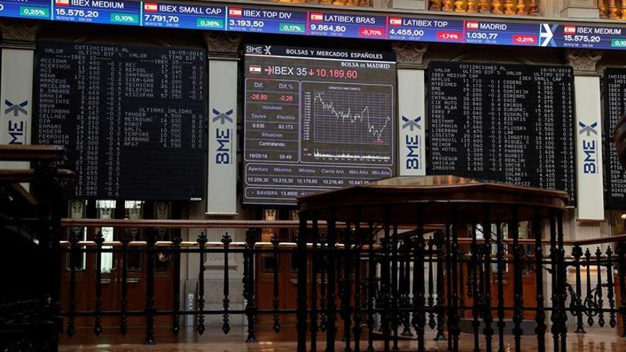 El IBEX baja un 0,18 % y pone en riesgo su mejor racha de ganancias semanales
