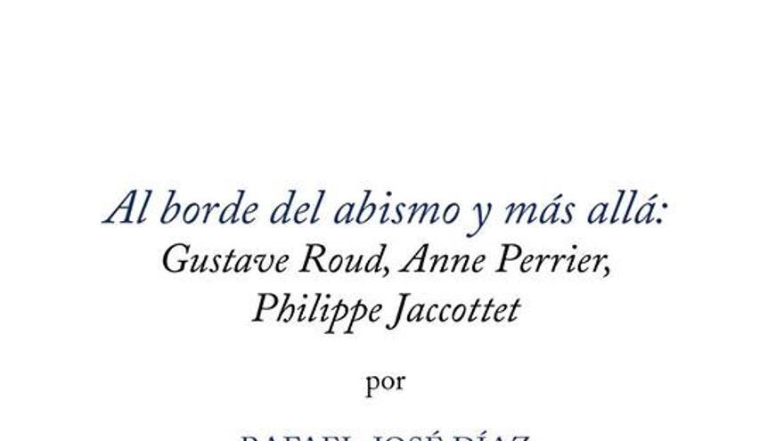 Rafael-José Díaz presenta su libro de ensayos 'Al borde del abismo y más allá…'