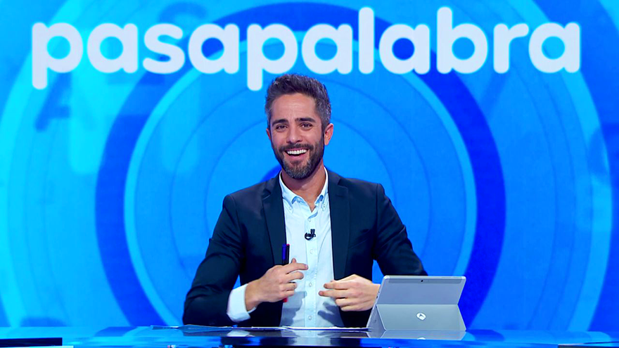 Roberto Leal, en el plató de Pasapalabra