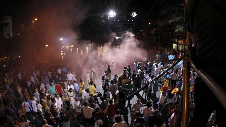 Seis detenidos de Hogar Social Madrid tras los incidentes en la sede del PP
