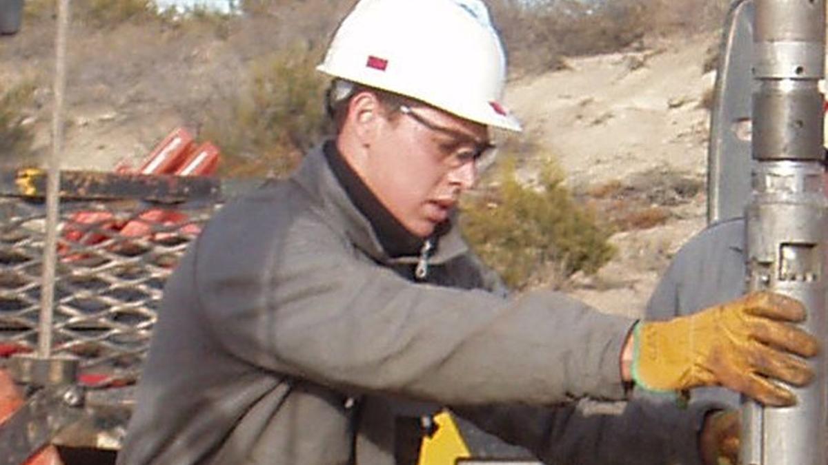 Un trabajador de Sinopec.