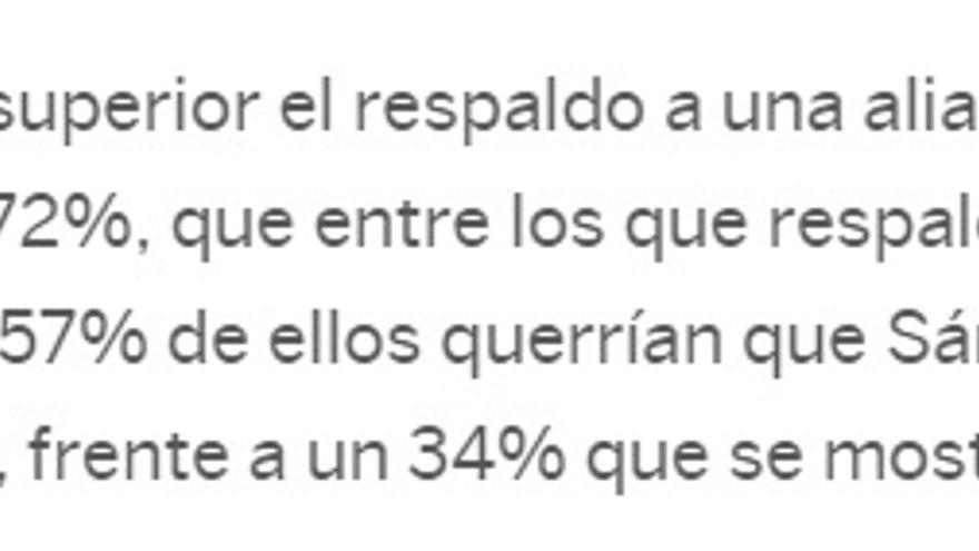Información de El País sobre la encuesta de Metroscopia.