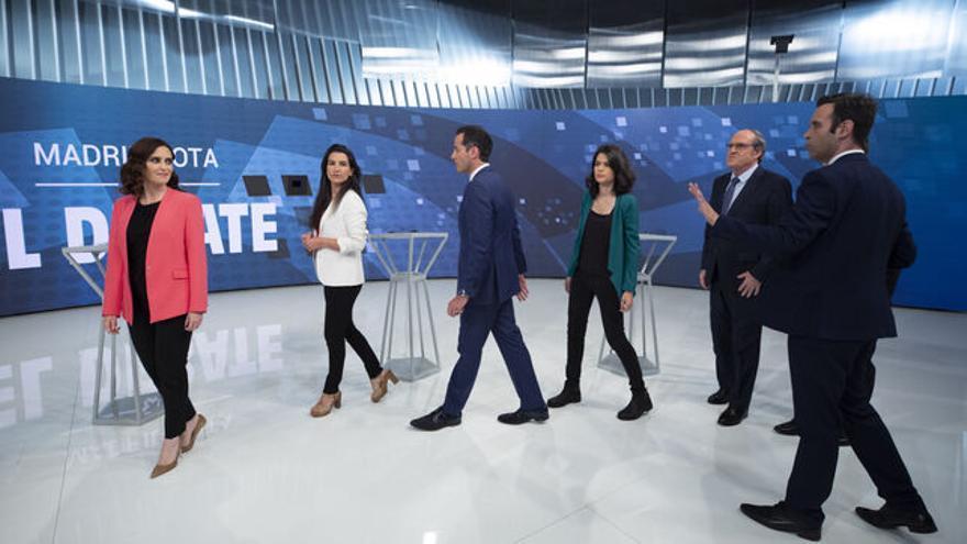 Debate en Telemadrid de candidatos a la Comunidad