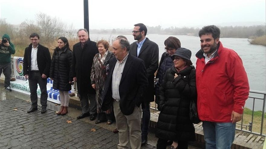 Visita de los eurodiputados al Tajo en febrero de 2016