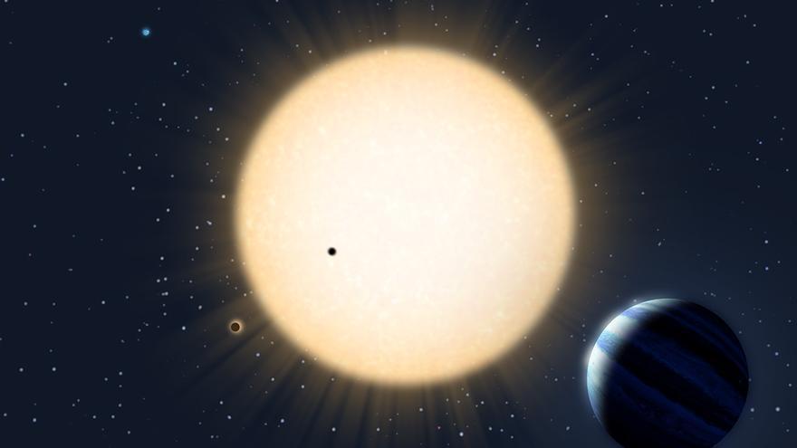 Imagen artística del sistema planetario. Créditos: Avet Harutyunyan/TNG.