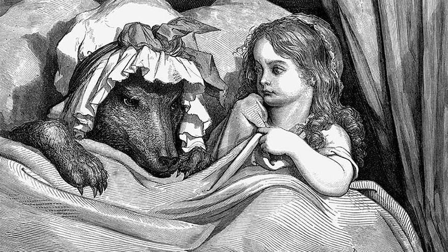 Ilustración dedicada a Caperucita Roja. (Canarias Ahora)