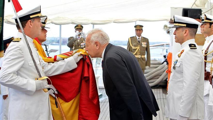 """García-Margallo preside en La Habana una jura de bandera a bordo del """"Elcano"""""""