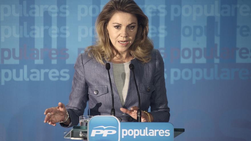 """Cospedal recalca que aunque al PP le va bien los """"líos internos"""" del PSOE, """"no son buenos para España"""""""