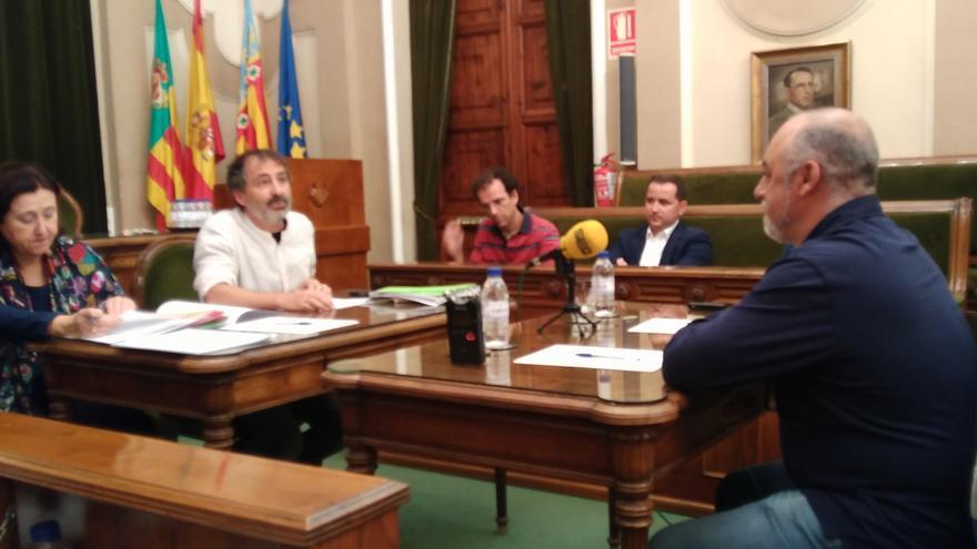 Leandre Escamilla, gerente de Xarxa Teatre, antes de iniciar su declaración
