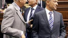 Paulino Rivero, José Miguel Pérez y Francisco Hernández Spínola