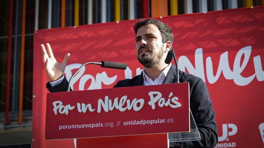 Garzón: el PP es una trama corrupta que se presenta ocasionalmente a elecciones