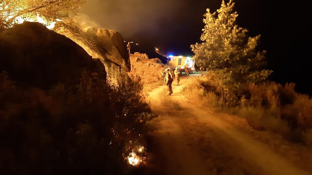 Incendio en Navalacruz (Ávila)