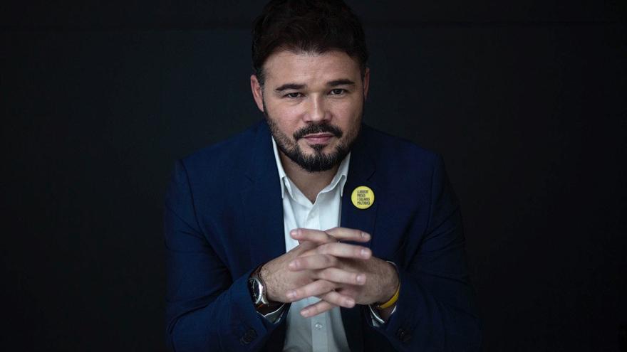 El candidato de ERC, Gabriel Rufián