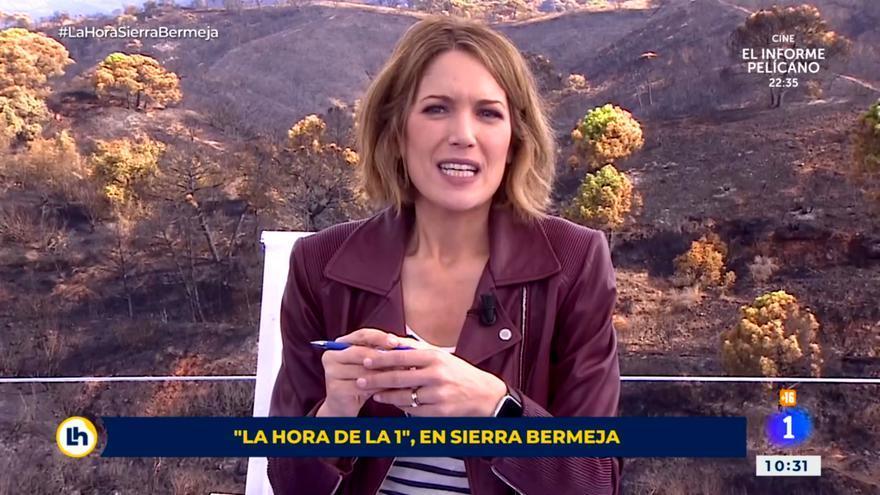 """'La hora de La 1' se emitió desde el incendio de Sierra Bermeja con Silvia Intxaurrondo """"sobrecogida"""""""