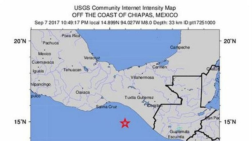 Un terremoto de magnitud 8 en la escala de Richter sacude la Ciudad de México