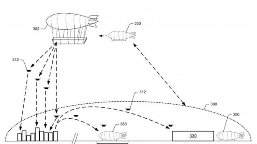 La nave nodriza de Amazon desde la que partirían sus drones