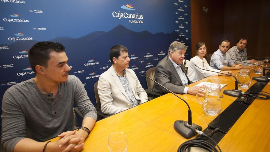 Momento de la presentación de la iniciativa en la Fundación CajaCanarias, este viernes