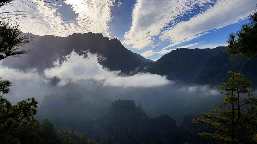 Impresionante panorámica de La Caldera de Taburiente.