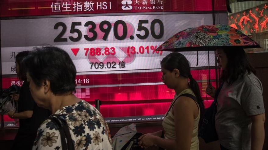 El Hang Seng cae arrastrado por la bajada en la clasificación de Moody's.