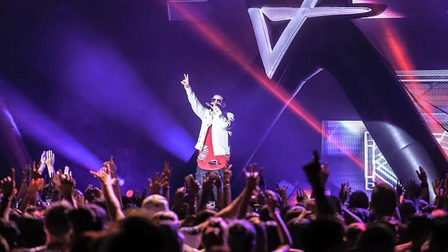 Daddy Yankee en un concierto