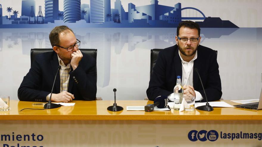 El concejal de Movilidad y Ciudad de Mar, José Eduardo Ramírez, y el director general de Movilidad, Heriberto Dávila.