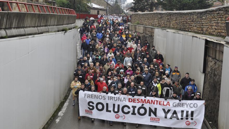 Manifestación en apoyo a los trabajadores de Greyco. | José Miguel Gutiérrez