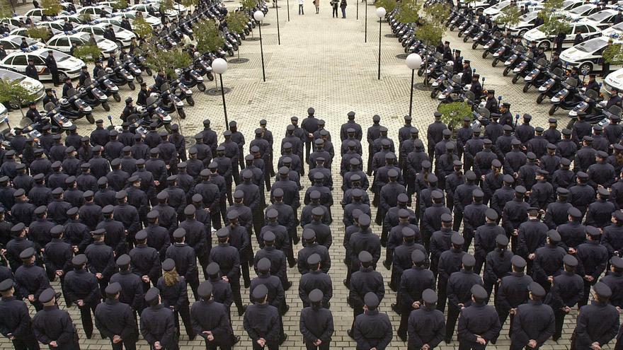 Sede de los servicios centrales de la Policía Nacional en el barrio de Canillas (Madrid)
