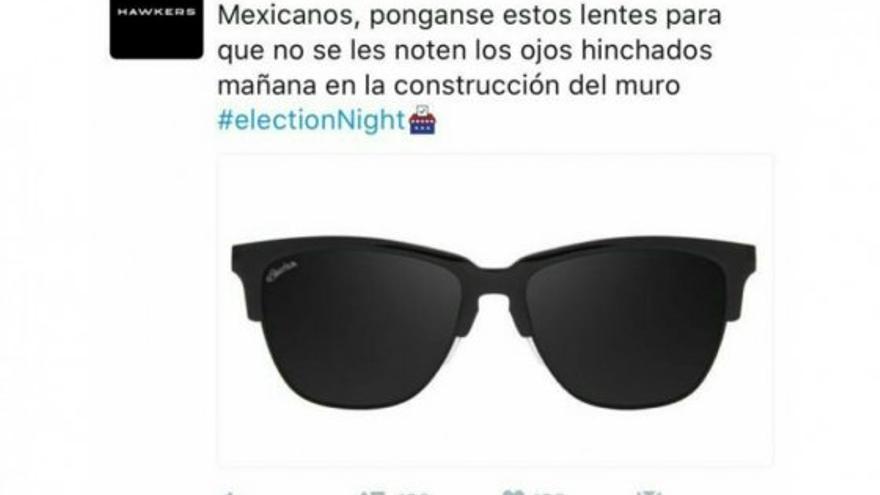 """7017b463de Qué es Hawkers, la marca de gafas española que ha hecho una """"cagada máxima""""  utilizando a Trump en redes"""
