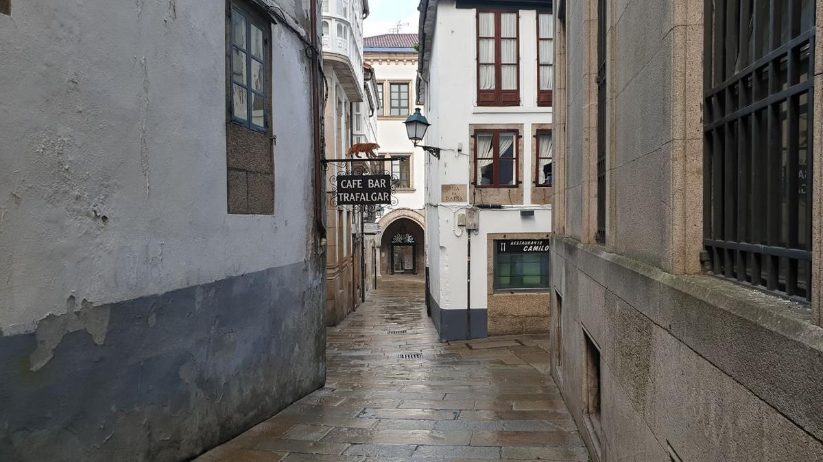 Calles desiertas en el centro histórico de Santiago de Compostela/G.C