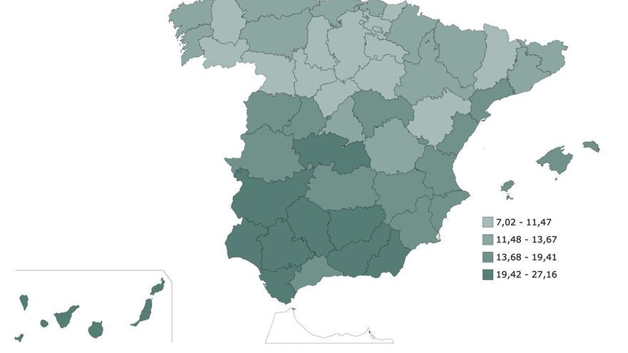 Santa Cruz de Tenerife, la sexta provincia española con mayor tasa de desempleo