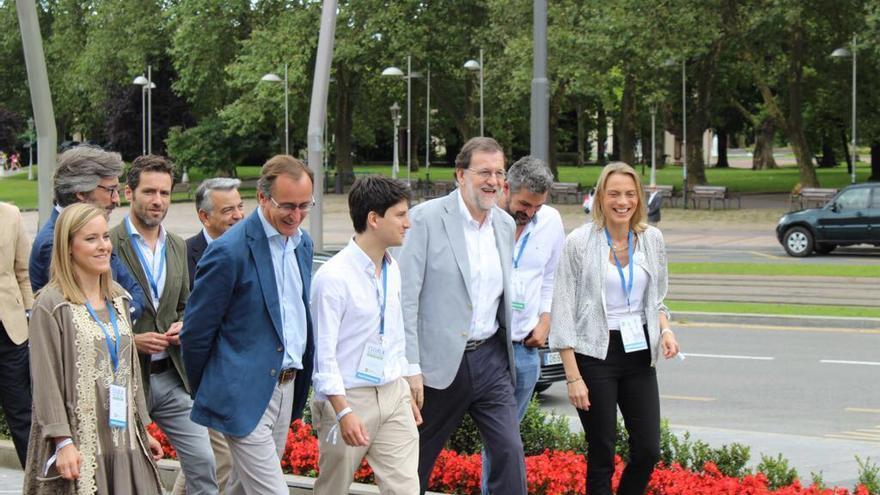 Rajoy, a su llegada al acto del Euskalduna de Bilbao
