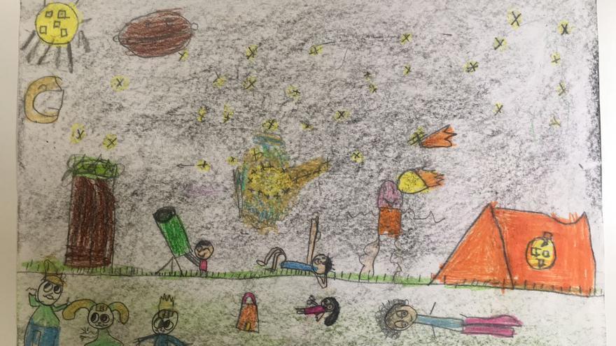 Tercer premio del concurso de dibujos Astrofest 2018. Autora:  Valeria Francisco Martín.