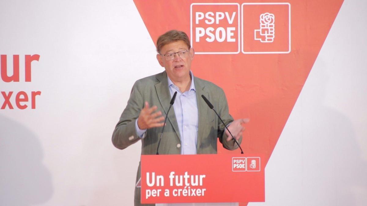 El presidente del Gobierno valenciano, Ximo Puig, este sábado en Castelló.