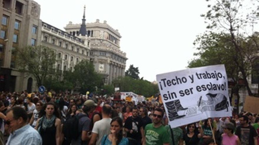Manifestantes Del 15M En Madrid